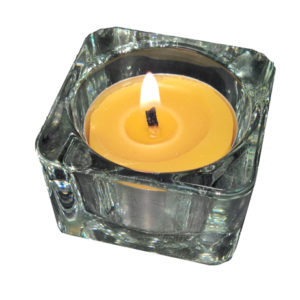 tealight with glass