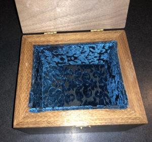 Walnut Box Interior